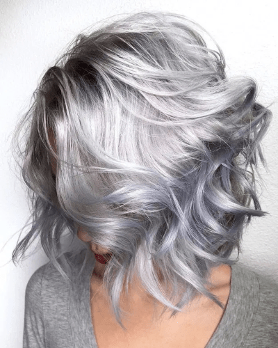 Carré blond-gris